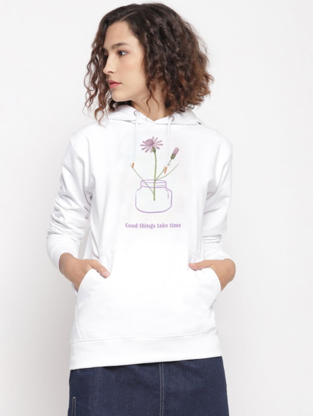 Good Things Floral Graphic Hoodie