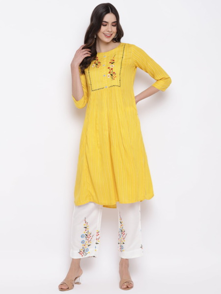 Yellow-White-Embroidered-Kurta-with-Trousers-suit-Women-purplicious
