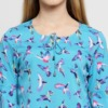 Purplicious Women Turquoise Blue Printed Top