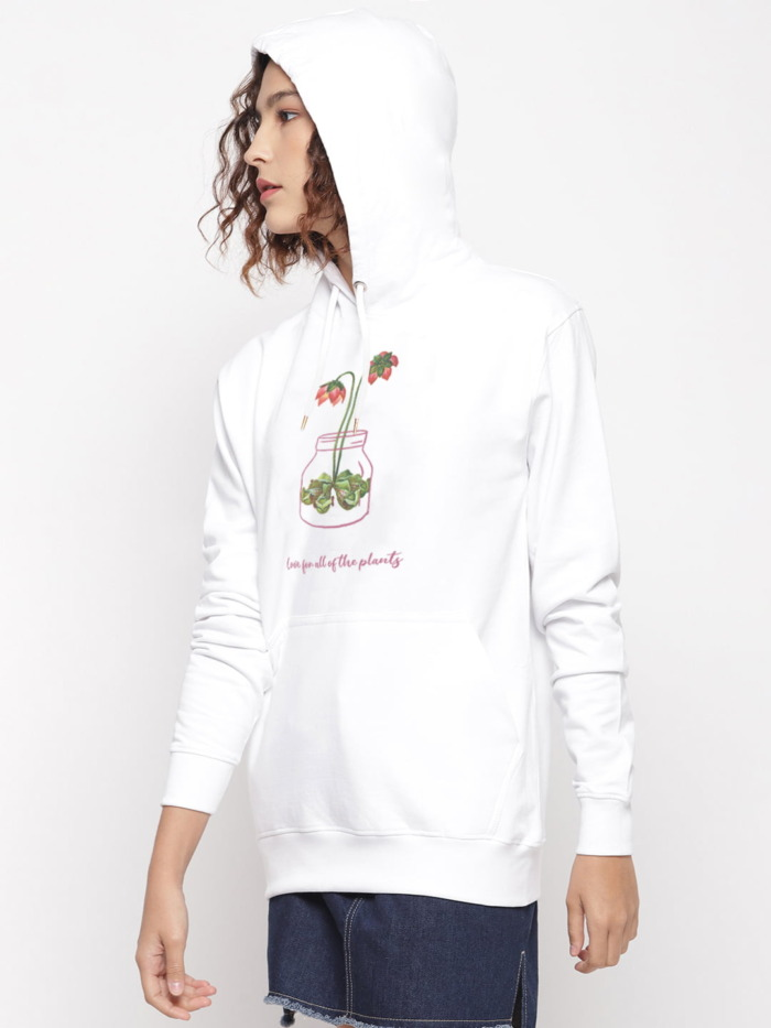 Love for Plants Floral Graphic Hoodie 1