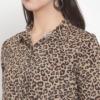 Purplicious Animal Printed Knot Casual Shirt