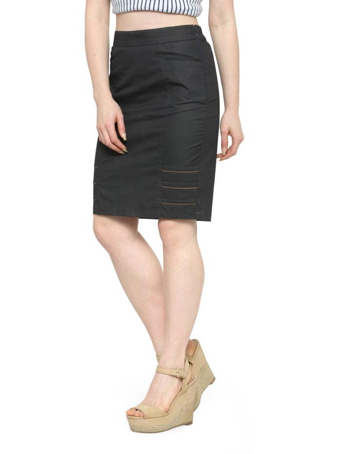 Grey-Cotton-Pencil-Skirt-Brown-Highlights-purplicious