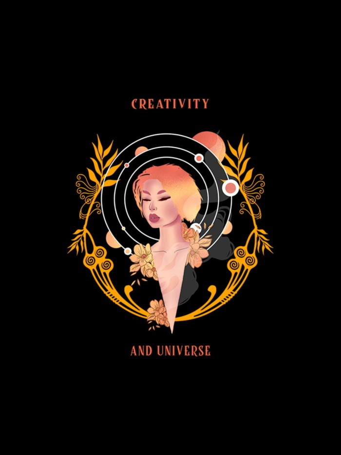 Creativity And Universe Graphic Hoodie 1