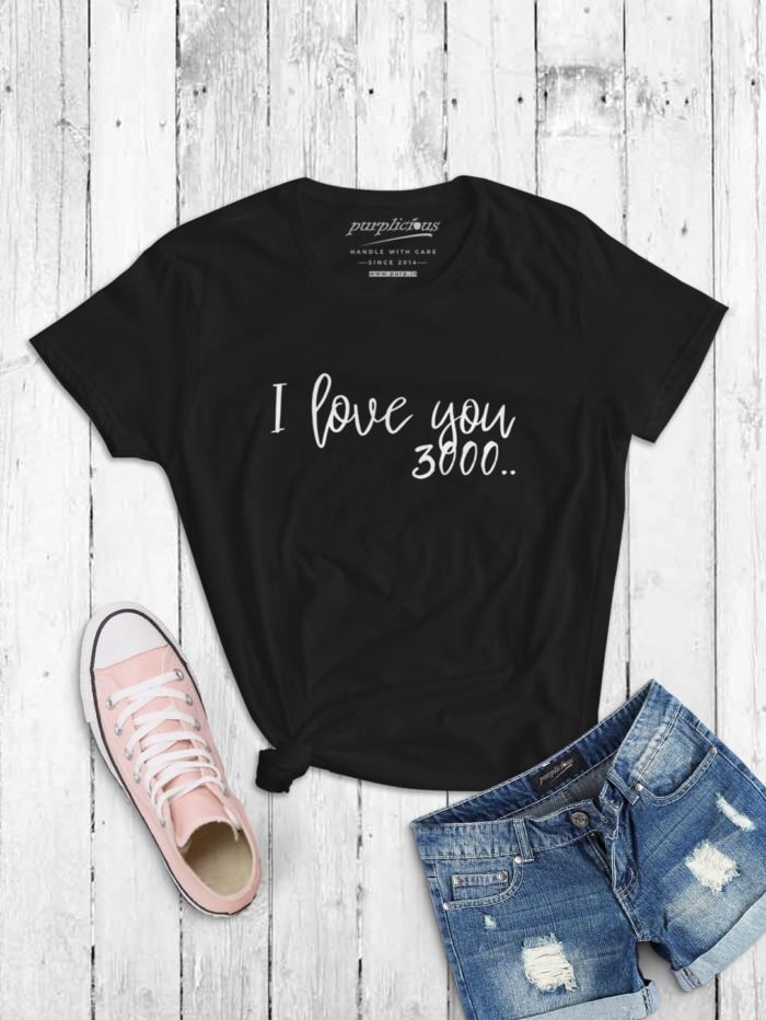 I Love you 3000 Calligraphy T-shirt 4
