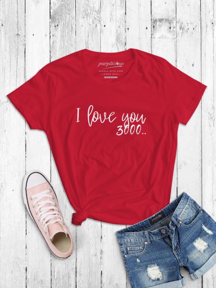 I Love you 3000 Calligraphy T-shirt 3