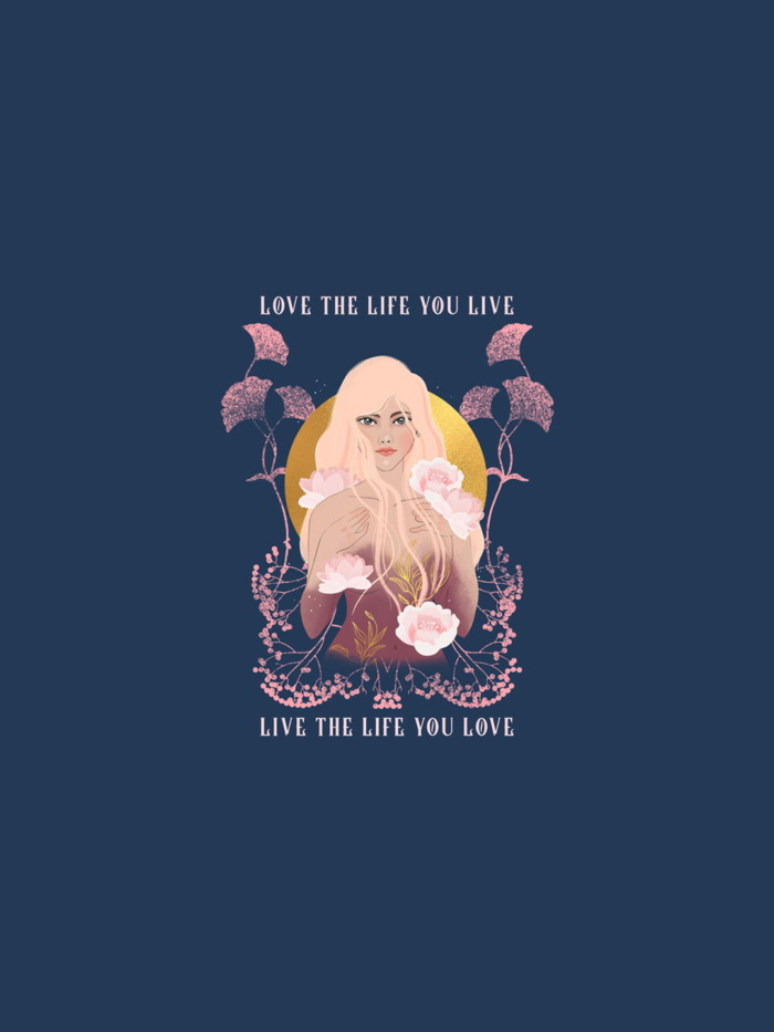 Live The Life You Love Premium Graphic T-shirt 2