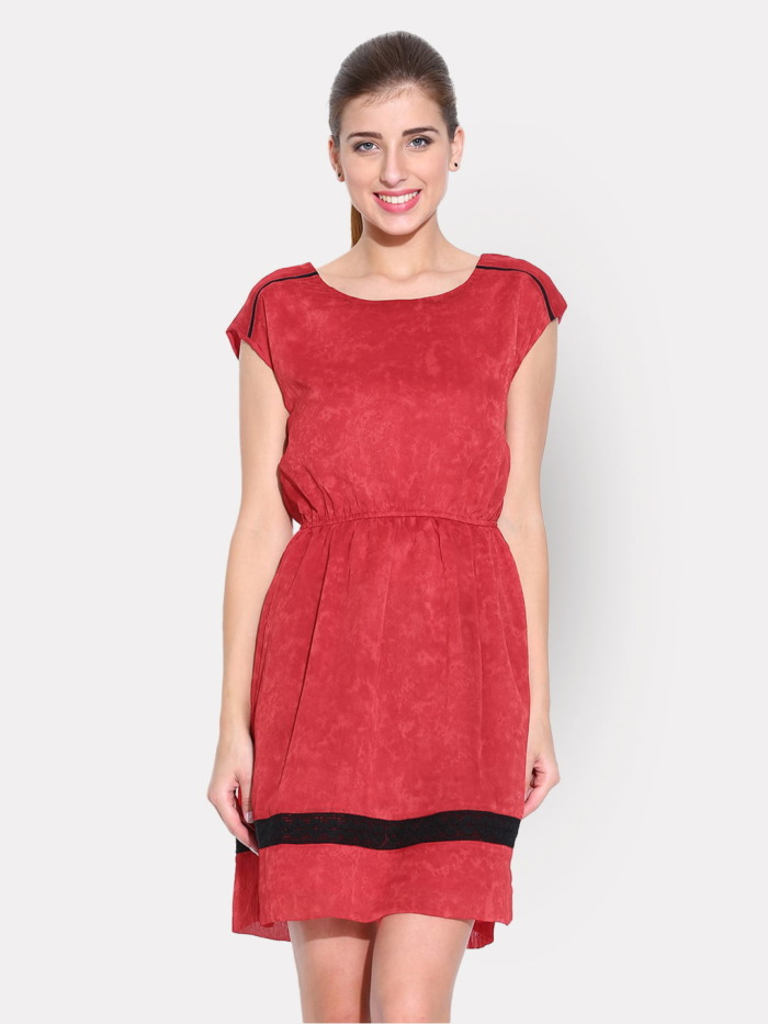 Red-Printed-Fit-Flare-Dress-with-Lace-Details-purplicious