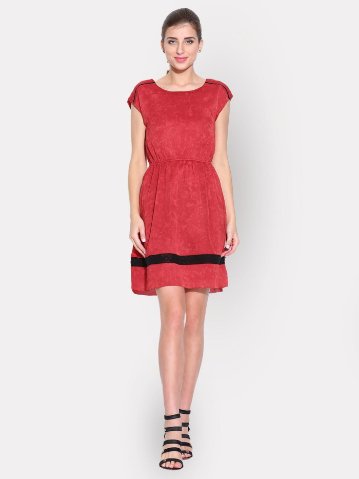 Red-Printed-Fit-Flare-Dress-with-Lace-Details-purplicious-1