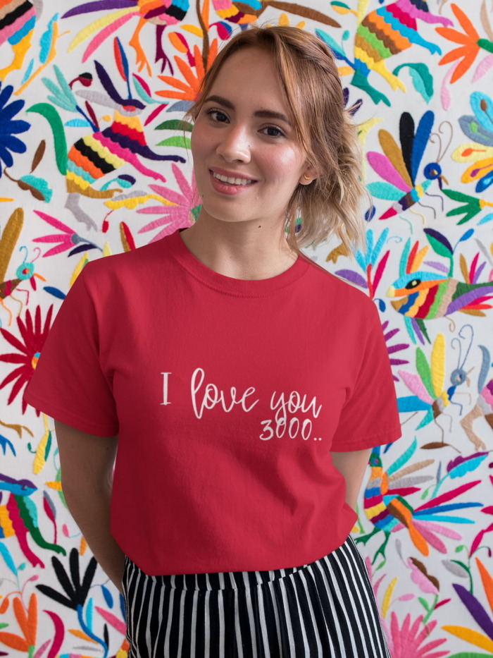 I Love you 3000 Calligraphy T-shirt 7